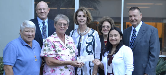 The tournament Chair presented members of the Community Memorial Healthcare Foundation with a check for $6,700 for the Healthy Women's Program.