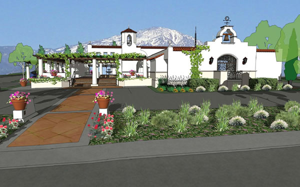 Artists rendering of the Ojai Valley Community Hospital