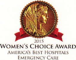 2015 Women's Choice Award for America's Best Hospitals for Emergency Care